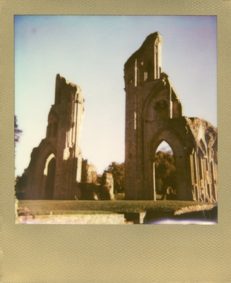 Glastonbury Abbey Gold Frame