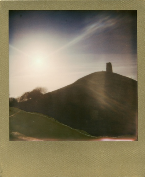 Glastonbury Tor Gold Frame